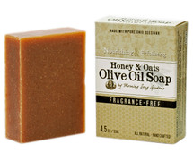 Honey & Oats Olive Oil Soap, Fragrance Free (4.5 oz.)