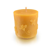 Cylinder, Buzzing Bee Beeswax Candle
