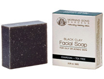 Morning Song's Australian black clay soap is ideal for oily and acne prone skin types. Detoxifying Australian black clay works deep into the skin to unclog pores and exfoliate dead skin cells while nourishing on the skin naturally. Bamboo Activated Charcoal acts as a magnet to draw bacteria, chemicals, dirt, and other micro-particles to the surface of the skin, helping to achieve a radiant complexion. Due to its naturally antiseptic, antibacterial and anti fungal properties, tea tree oil is natures gift in battling acne or oily build up on the skin. We recommend pairing this soap with our Hemp Seed oil.