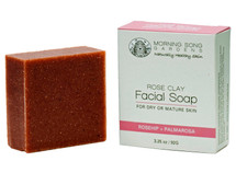 Rose Clay Facial Soap - for dry/mature skin (3.25 oz.)