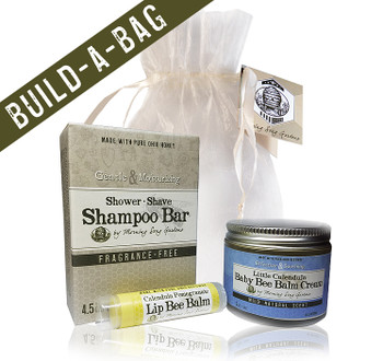 Choose 1 Olive Oil Soap, Shampoo Bar, or Facial Clay Soap. Next Choose 1 Be Balm Cream. Lastly pick you favorite Lip Bee Balm.