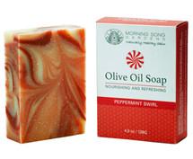 Peppermint Swirl Olive Oil Soap