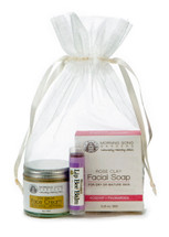 Complete Facial Care Gift Bag with  Lip Shimmer (3 Clay soap options)