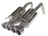 "B&B - PRT Exhaust w. Quad 4"" Round or 4.5"" Oval Tips - C6 Corvette Z06/ZR1"