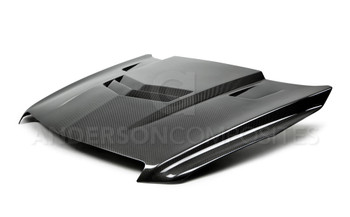 Anderson Composites Type-VT carbon fiber hood for 2013-2015 Cadillac ATS