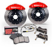 StopTech Corvette Front Big Brake Kit - Red ST-60 Calipers / Slotted Rotors / Pads / SS Lines