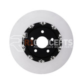 R1 Concepts 2 Piece Carbon Alloy Slotted Front Rotors - CTS-V / ZL1