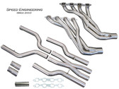 "Speed Engineering - 1 7/8"" Long Tube  Headers w. X-Pipe - Gen 6 Camaro LT1 / LT4"