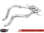AWE Track Edition Axleback - Chrome Tips - C7 Covette Stingray / GS / Z06 / ZR1