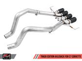 AWE Track Edition Axleback - Black Tips - C7 Covette Stingray / GS / Z06 / ZR1