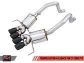 AWE Touring Edition Axleback Exhaust for C7 Corvette without AFM Valves - Z06 / ZR1 / Z51 Manual 17+ / GS Manual -- Diamond Black Tips