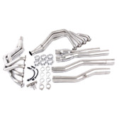 "TSP C7 Corvette 2.00"" Long Tube Headers & 3"" Catted X-Pipe - 304 Stainless Steel"