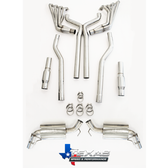 """TSP 2010+ Camaro SS 304 Stainless Steel 2.00"""" Long Tube Headers, Catted X-Pipe w/O2 Extensions"""