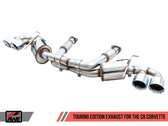 AWE Tuning Touring Edition Exhaust - Quad Chrome Silver Tips - C8 Corvette