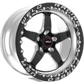 "Weld Wheels - 15x10"" RT-S S71 Black Beadlock Rear Wheel - GM w. 15"" Conversion"