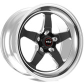 "Weld Wheels - 15x10"" RT-S S71 Black Rear Wheel - GM w. 15"" Conversion"