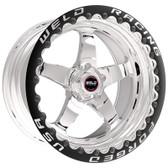 """Weld Wheels - 17x11"""" RT-S S71 Polished Beadlock Rear Wheel - C6 Corvette Z06"""