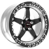 """Weld Wheels - 17x11"""" RT-S S71 Black Beadlock Rear Wheel - C6 Corvette Z06"""