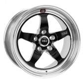 """Weld Wheels - 17x5"""" RT-S S71 BlackFront Wheel - C6 / C7 Corvette Z06"""