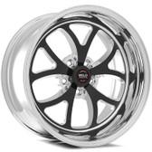 "Weld Wheels - 17x5"" RT-S S76 Black Front Wheel - C6 / C7 Corvette Z06"