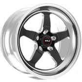 "Weld Wheels - 18x12"" RT-S S71 Black Rear Wheel - C7 Corvette w. Carbon Brakes"