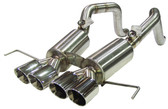 B&B - Bullet Axleback Exhaust w. Quad Round Tips - C7 Corvette Stingray - LT1