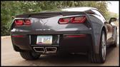 B&B - Fusion Bi-Modal Axleback Exhaust w. Speedway Tips - C7 Corvette Stingray LT1