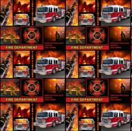 Fire Department Cotton Fabric-Fireman Cotton Fabric-Fire Fighter Fabric