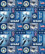 U.S. Air Force Fleece Fabric Geometric Design