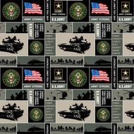 U.S. Army Fleece Fabric Geometric Design