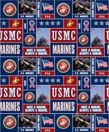 U.S. Marine Corps Fleece Fabric Geometric Design