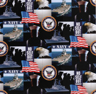 U.S. Navy Cotton Fabric Geometric Design