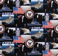 U.S. Navy Cotton Fabric Geometric Design