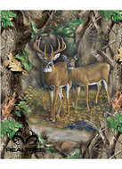 RealTree Cotton Panel With Deer And Doe