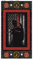 Firefighter, Fireman Cotton Panel-100% Cotton-Sold by the Panel