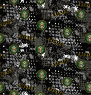 US Army Cotton Fabric with Abstract Pattern-Sold by the Yard