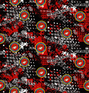 US Marines Cotton Fabric with Abstract Pattern-Sold by the Yard