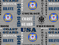 US Coast Guard Cotton Fabric with Heather Pattern-Sold by the Yard