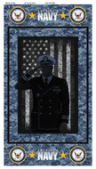 United States Navy Cotton Panel-100% Cotton-Sold by the Panel