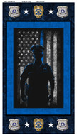 Police Department Cotton Panel-100% Cotton-Sold by the Panel
