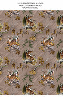 Realtree Cotton Fabric Deer Allover Print-Sold by the Yard