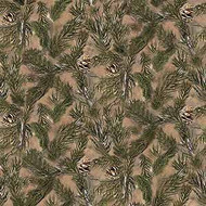 Realtree Cotton Fabric with Pine Needles and Cones-Sold by the Yard