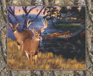 Realtree Cotton Fabric Panel with Lakeside Sunset-Sold by the Panel