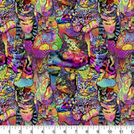 Crazy for Cats Cotton Fabric Collections-Cats Quilting Fabric, Kittens Quilting Fabric-Packed Design-Sold by the Yard
