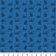 Farmall Cotton Fabric-Farmall Quilting Cotton Fabric-Farmall Toile Cotton-Sold by the Yard-Blue