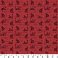 Farmall Cotton Fabric-Farmall Quilting Cotton Fabric-Farmall Toile Cotton-Sold by the Yard-Red