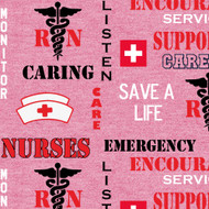 Nurse Cotton Fabric-Nurse Quilting Fabric-Newest Design-Sold by the Yard