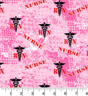 Nurse Cotton Fabric-Nurses Quilting Fabric-Sold by the Yard