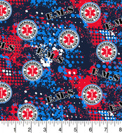 EMS Cotton Fabric-EMS Emergency Quilting Fabric-Sold by the Yard