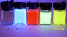 IFPAP inks under 385nm UV illumination